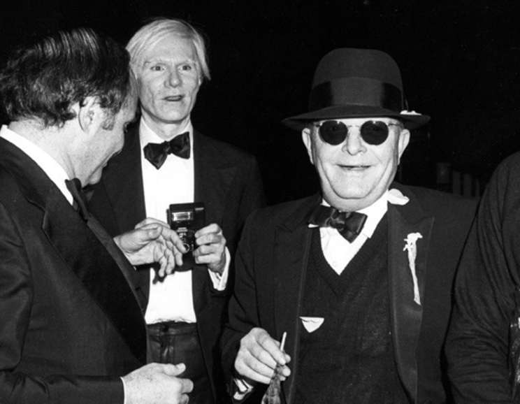 Ron Galella - Andy Warhol, Truman Capote and Lester Persky attend Steve Rubell's Birthday Party at Studio 54 New York, December, 2
