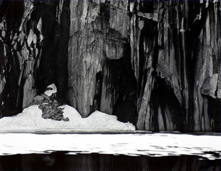 Ansel Adams - Frozen Lake and Cliffs, Kaweah Gap Sequoia National Park. Calfornia