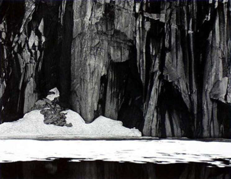 Ansel Adams - Frozen Lake and Cliffs, Kaweah Gap Sequoia National Park. Calfornia