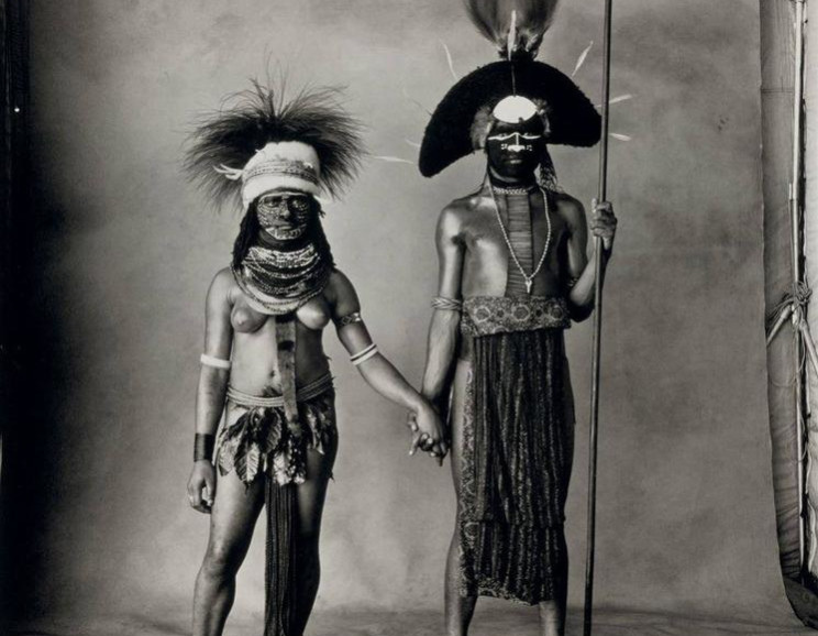 Irving Penn - Young Enga Couple, New Guinea