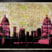 ANGELA MORRIS-WINMILL, View of Canary Wharf through Old Royal Naval College - map