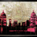 ANGELA MORRIS-WINMILL, View of Canary Wharf through Old Royal Naval College, V
