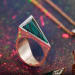 Terzihan, Kameleona: The Ruby Parrot Ring w/Sapphire Limited Edition