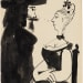 Pablo Picasso, Homme et femme assise, 1970