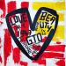 enzo ferrari heart gto contemporary art painting Teddy McDonald red black yellow