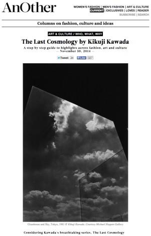 The Last Cosmology by Kikuji Kawada