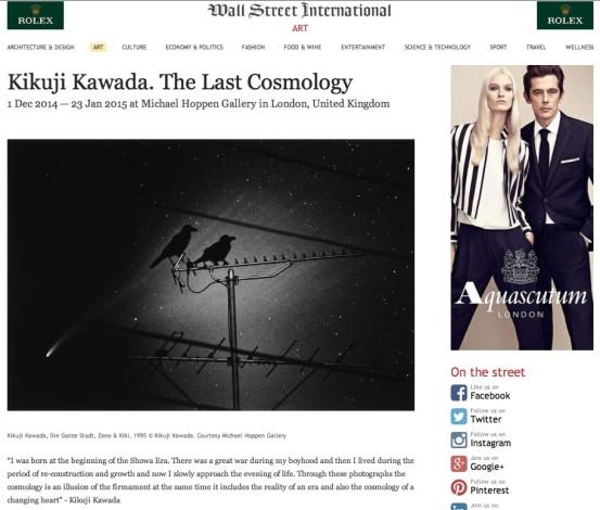 Kikuji Kawada. The Last Cosmology