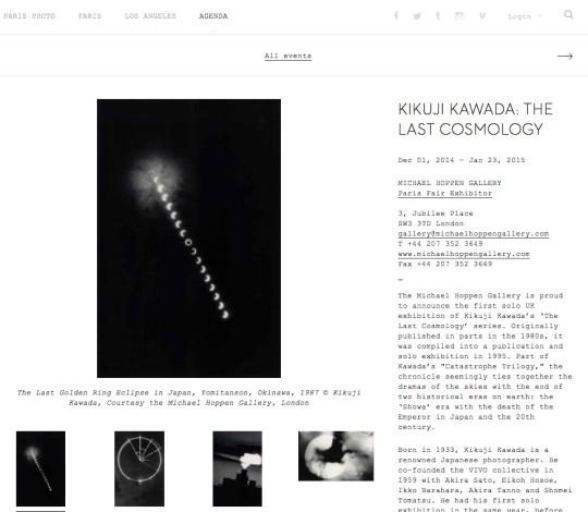 KIKUJI KAWADA: THE LAST COSMOLOGY
