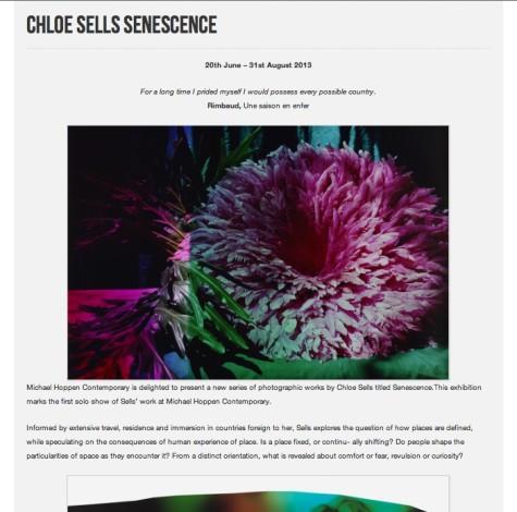 CHLOE SELLS: SENESCENCE