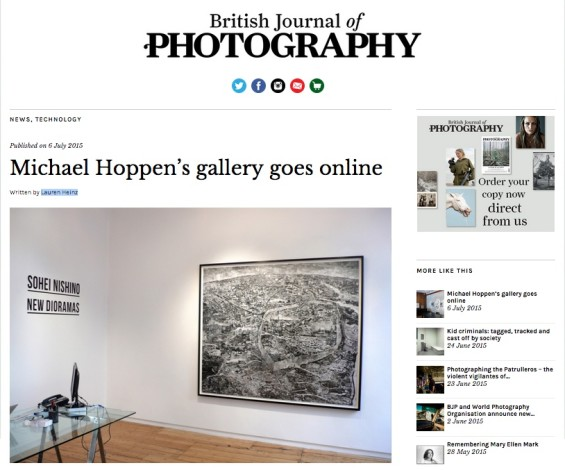 Michael Hoppen's gallery goes online
