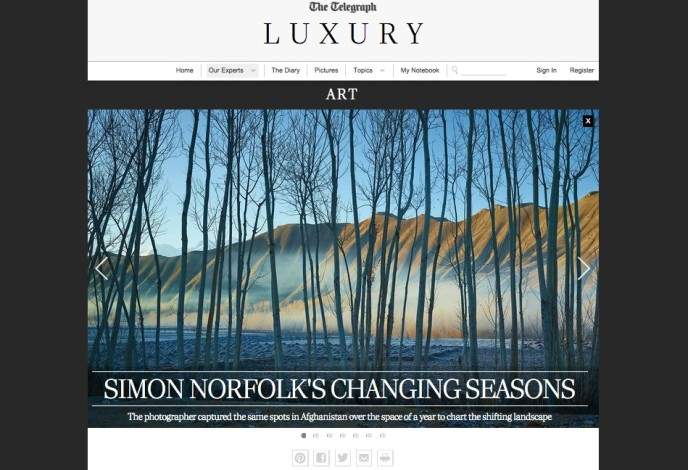 Simon Norfolk's changing seasons