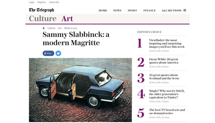 Sammy Slabbinck: a modern Magritte