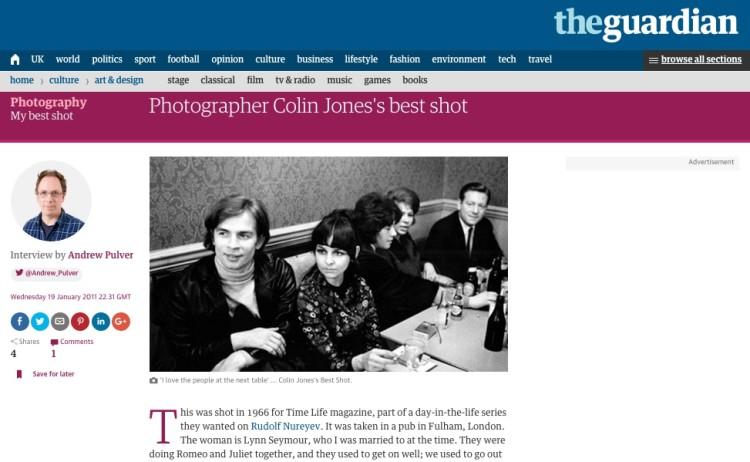 Photographer Colin Jones's best shot
