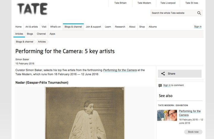 Performing for the Camera: 5 key artists