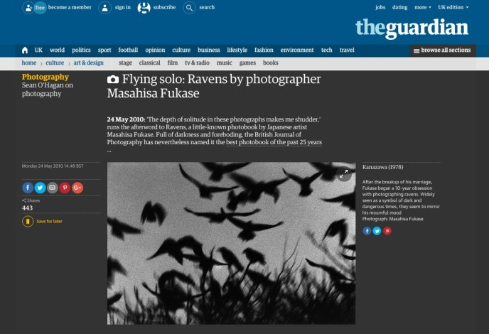 Flying solo: Ravens by photographer Masahisa Fukase