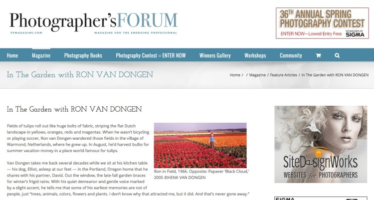 In the Garden with Ron Van Dongen