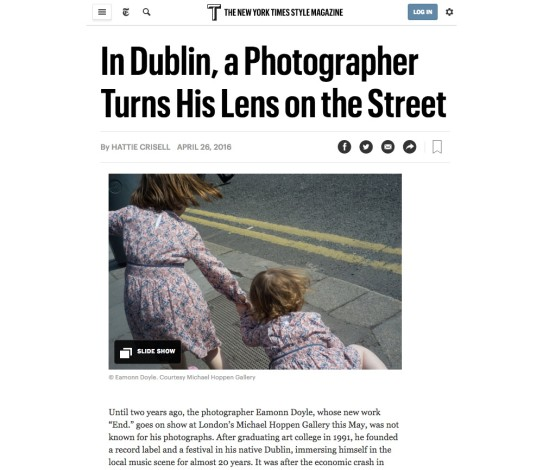 In Dublin, a Photographer Turns His Lens on the Street