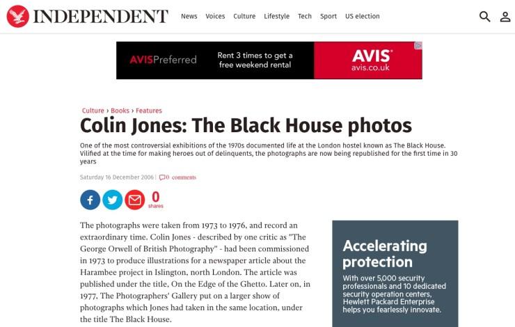Colin Jones: The Black House Photos