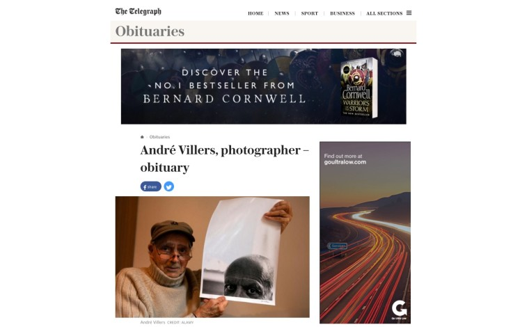André Villers, photographer – obituary