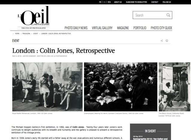 London : Colin Jones, Retrospective