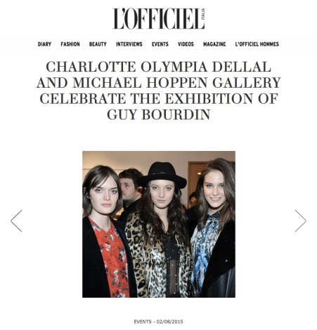 Charlotte Olympia Dellal and Michael Hoppen Gallery celebrate the exhibition of Guy Bourdin