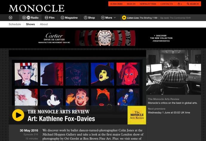 THE MONOCLE ARTS REVIEW Art: Kathlene Fox-Davies