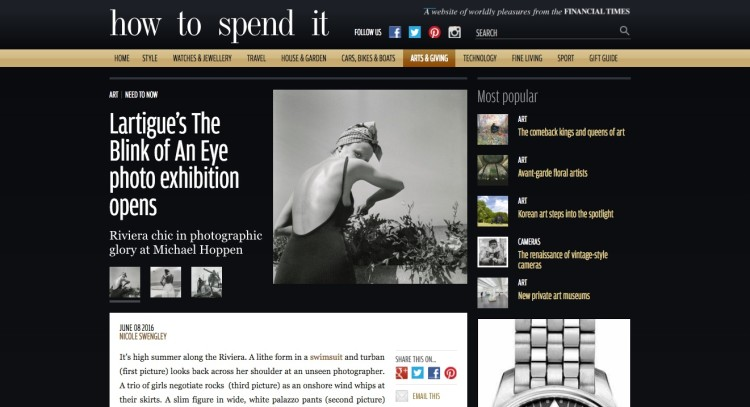 How to Spend it: Lartigue's The Blink of An Eye photo exhibition opens