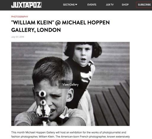 """WILLIAM KLEIN"" @ MICHAEL HOPPEN GALLERY, LONDON"