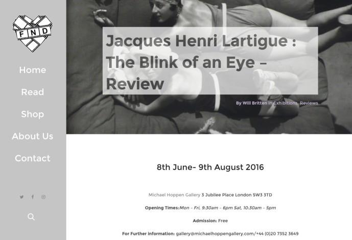 Jacques Henri Lartigue : The Blink of an Eye – Review