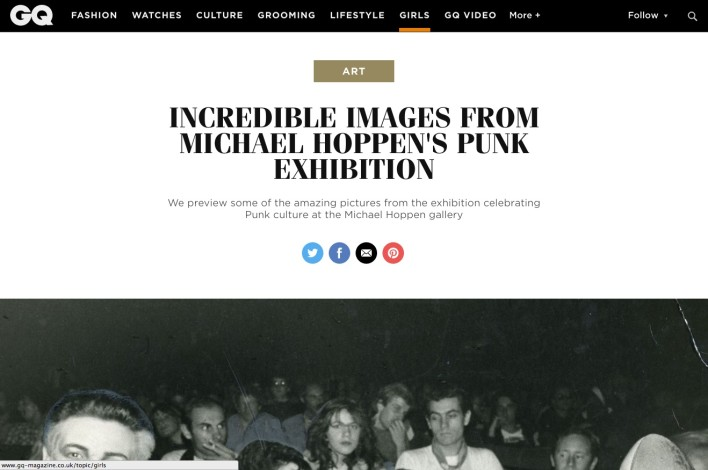 INCREDIBLE IMAGES FROM MICHAEL HOPPEN'S PUNK EXHIBITION