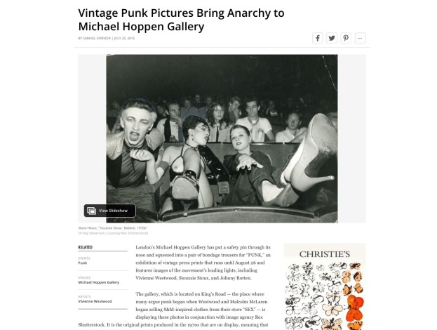 Vintage Punk Pictures Bring Anarchy to Michael Hoppen Gallery