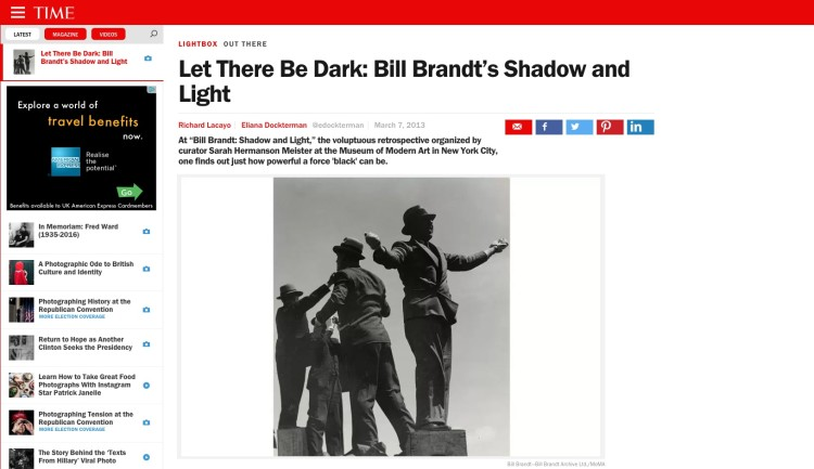 Let There Be Dark: Bill Brandt's Shadow and Light