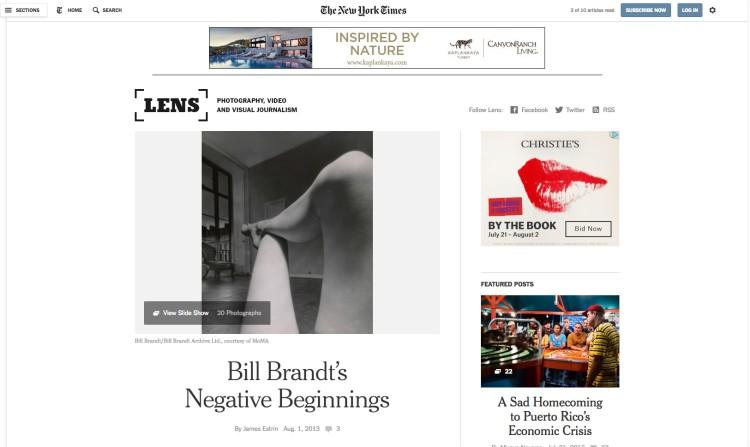 Bill Brandt's Negative Beginnings