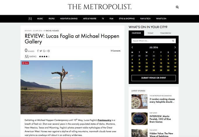 REVIEW: Lucas Foglia at Michael Hoppen Gallery