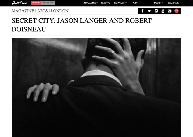 SECRET CITY: JASON LANGER AND ROBERT DOISNEAU