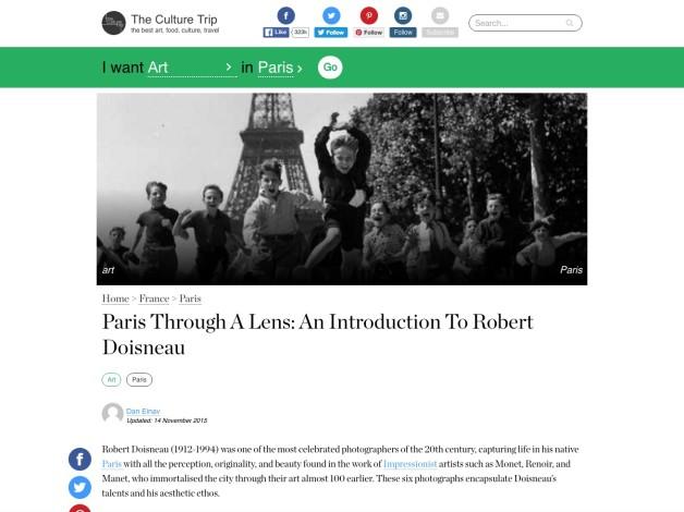 Paris Through A Lens: An Introduction To Robert Doisneau