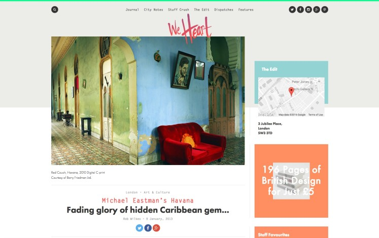 Michael Eastman's Havana - Fading glory of hidden Caribbean gem...