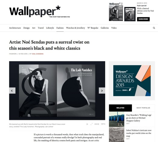 Artist Noé Sendas puts a surreal twist on this season's black and white classics