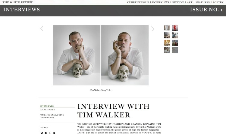 INTERVIEW WITH TIM WALKER