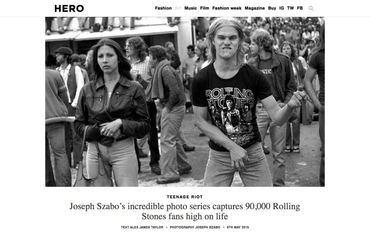 Joseph Szabo's incredible photo series captures 90,000 Rolling Stones fans high on life