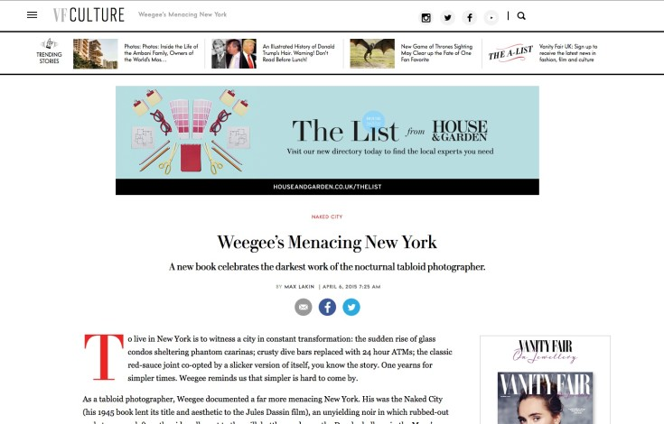 Weegee's Menacing New York