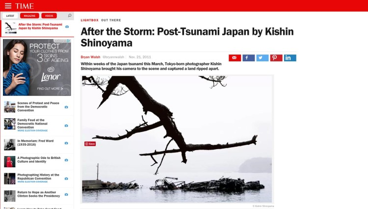 After the Storm: Post-Tsunami Japan by Kishin Shinoyama