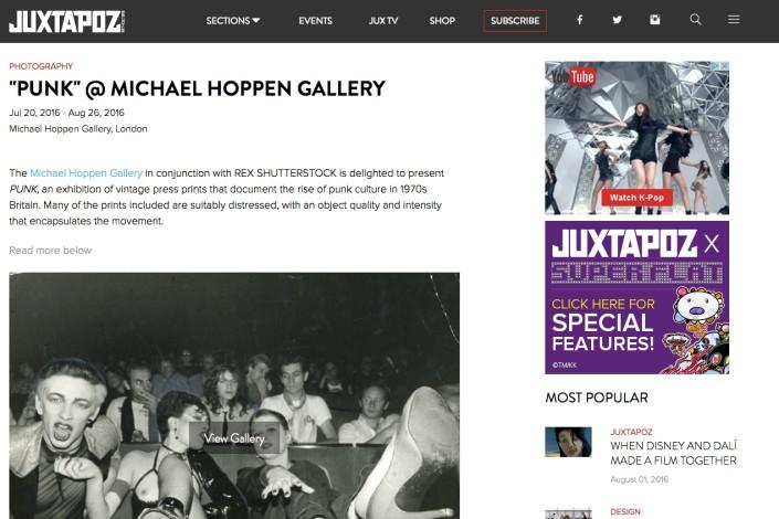 """PUNK"" @ MICHAEL HOPPEN GALLERY"