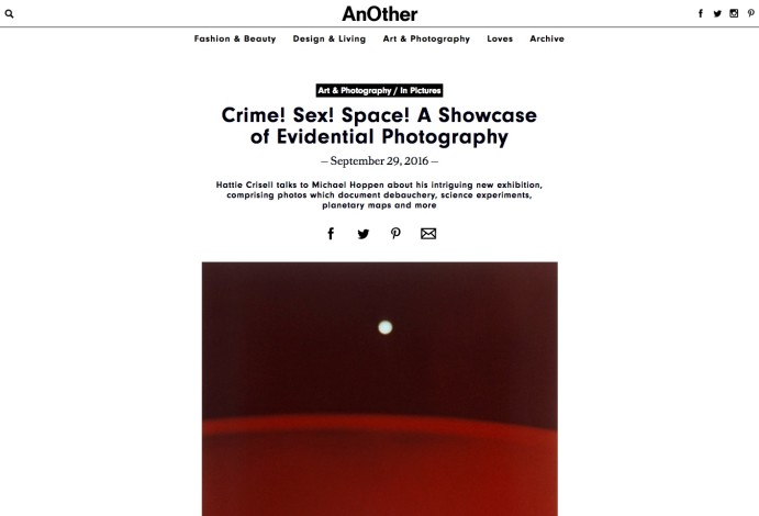 Crime! Sex! Space! A Showcase of Evidential Photography