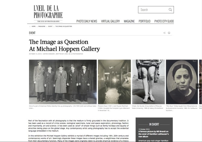 The Image as Question At Michael Hoppen Gallery