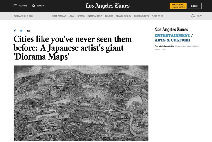 Cities like you've never seen them before: A Japanese artist's giant 'Diorama Maps'