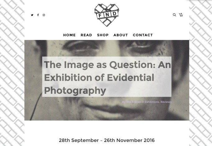 The Image as Question: An Exhibition of Evidential Photography