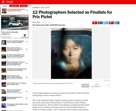 12 Photographers Selected as Finalists for Prix Pictet
