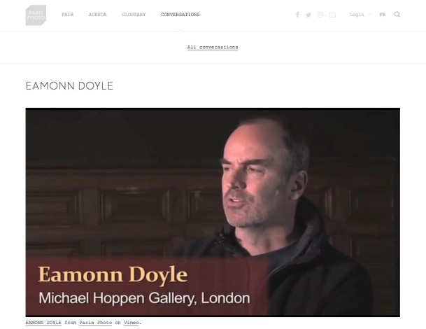 Conversations: Eamonn Doyle