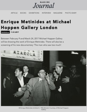 Enrique Metinides at Michael Hoppen Gallery London